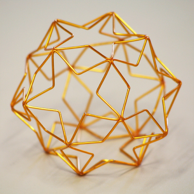 ワイヤーで作る星の正12面体模型