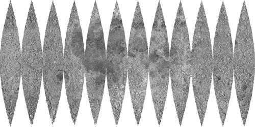 月球儀・月模型の型紙(舟形図)